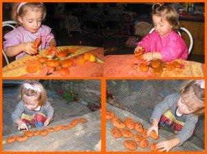 Activités d'automne 2011 dans Les jum bricolent peintureGalets-300x224