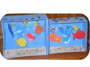 Aquarium et petits poissons dans Les jum bricolent montageaqua-300x225