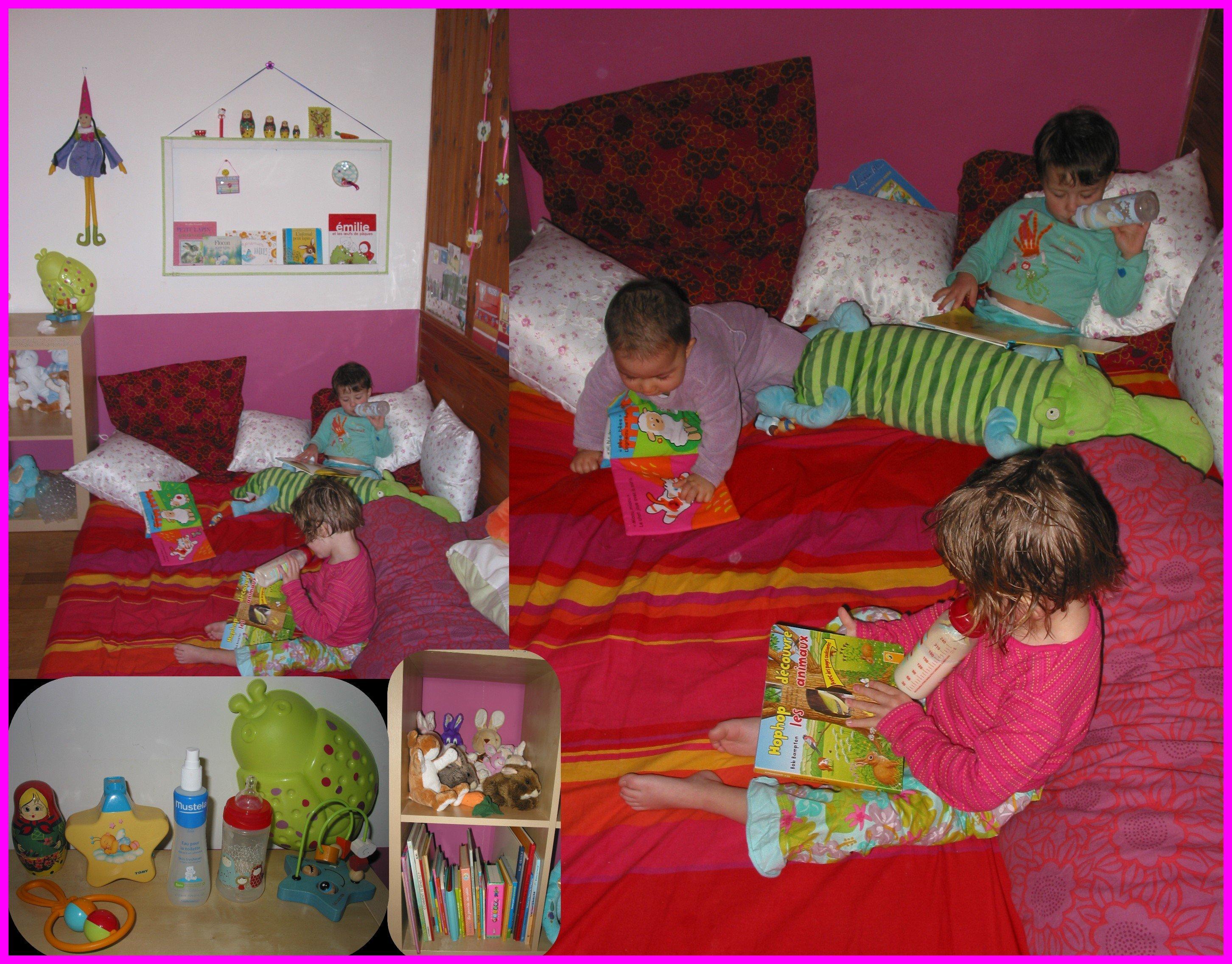 D co pour les filles croquelavieenrose - Coin lecture chambre enfant ...
