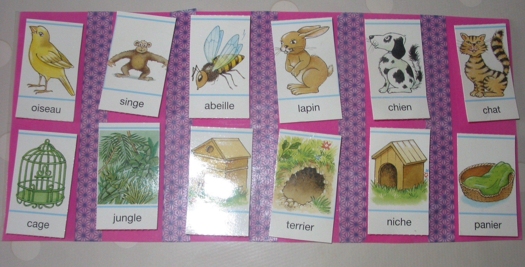 jeu la maison des animaux croquelavieenrose