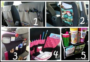 Un tas de rangements dans la voiture dans Inspiration Car-Organization_thumb3-1-300x207