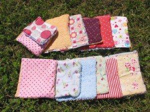 Mes lingettes lavables bifaces : coton♥éponge dans DIY Couture pour débutante serviette-0041-300x225
