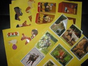Guirlandes décoratives avec des stickers et des post-it dans Déco pour les filles guiralndes-001-300x225