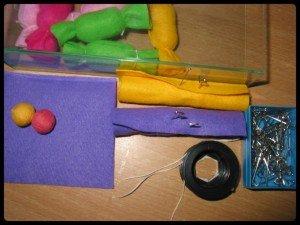 Bonbons multicolores en feutrine dans Home made pour elles montage16-300x225