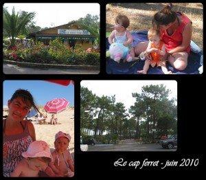 Mini-séjour  au Cap-Ferret dans La vie en rose montage2-300x262