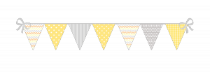 Des fanions colorés pour une belle rentrée pleine de gaieté dans Inspiration fanions-jaune-png-bis-300x106