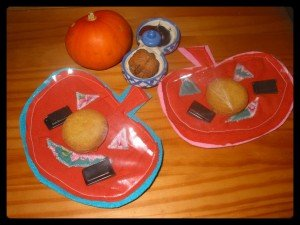 Pochettes à goûter Citrouille dans Home made pour elles montage7-300x225