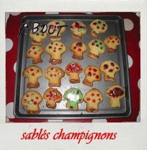 Sablés Champignons dans A table !!!! montage8-294x300