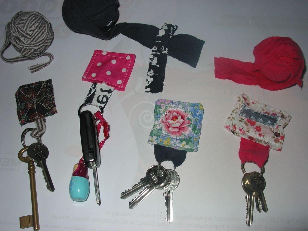 Porte clé en tissu avec du trapilho dans DIY Couture pour débutante ...