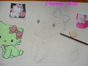 Les jumelles Charmmy Kitty : doudou-textile dans DIY Couture pour débutante dessin-300x225