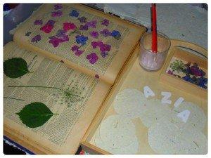 Guirlande avec les lettres du prénom : réalisé avec du papier artisanal dans Azia s'éveille à la vie montage-300x225