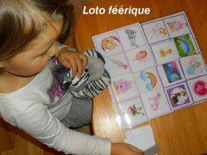 Un loto féérique et des images destinées au jeu