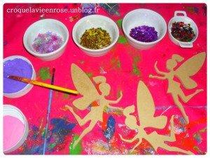 Décoration des petites fées en bois dans Les jum bricolent peinture-300x225
