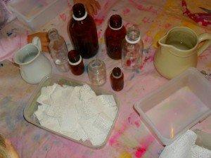 Des vases féériques dans Les jum bricolent platre4-300x225